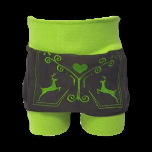 grüne Lederhose vorne