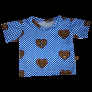 t-shirt blau herzal